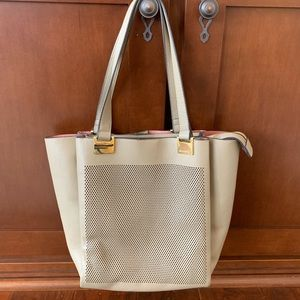 Vince Camuto Perforated Leather Shoulder Purse